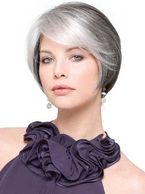 best short haircuts for gray hair 14 hairstyles for gray hair hairstyles 2017 4020 | Short Classy Bob Gray Hair