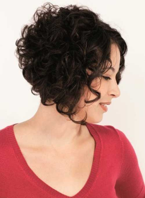 Short Curly Hair Cut for Brunettes