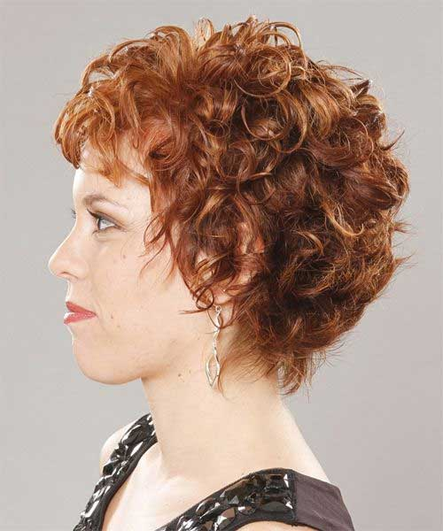 Short Curly Haircuts Layered Style