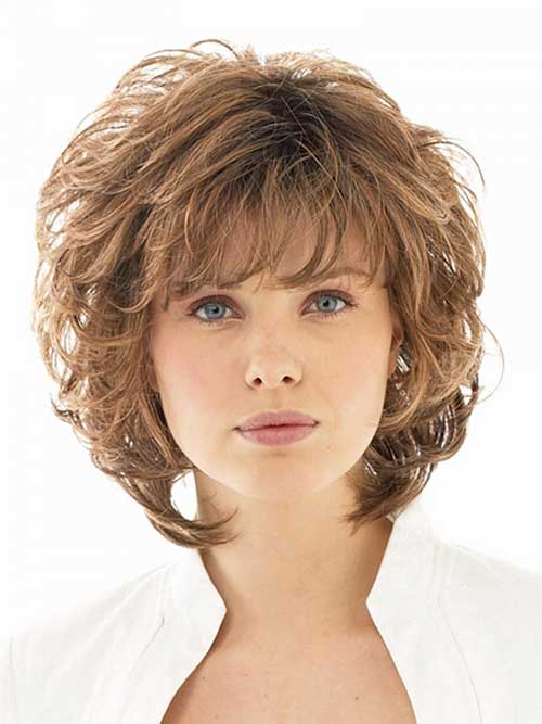 Short Curly Hair With Bangs And Layers 25