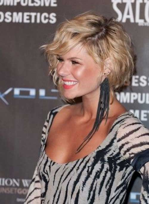 Short Curly Layered Bob Haircuts