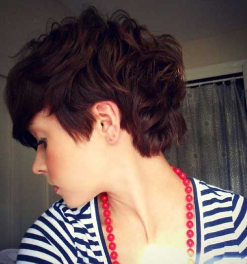 Short Curly Layered Pixie Haircuts