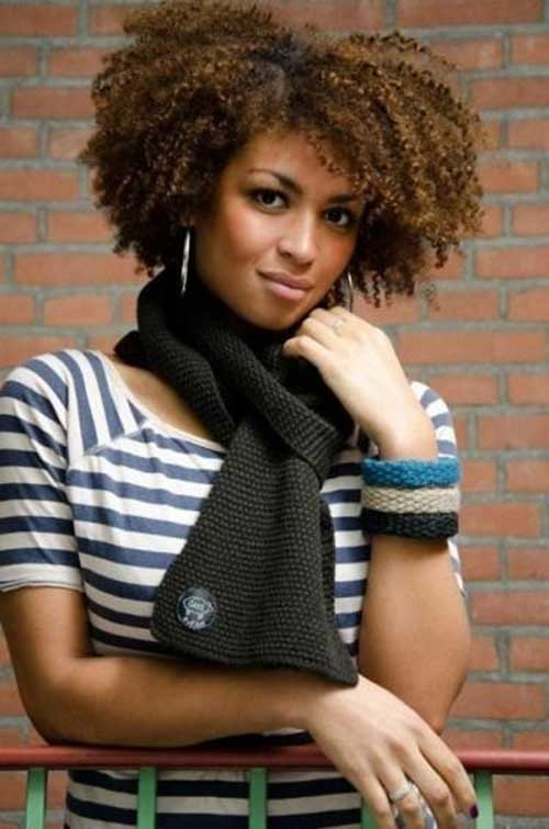 Short Curly Natural Hairstyles Pictures