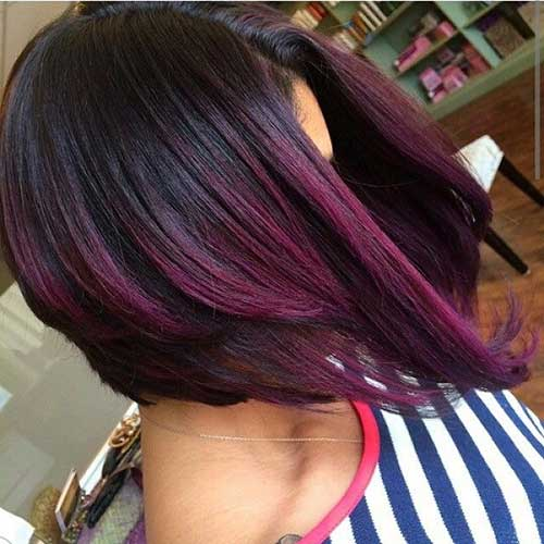 Short Dark Purple Hair Styles