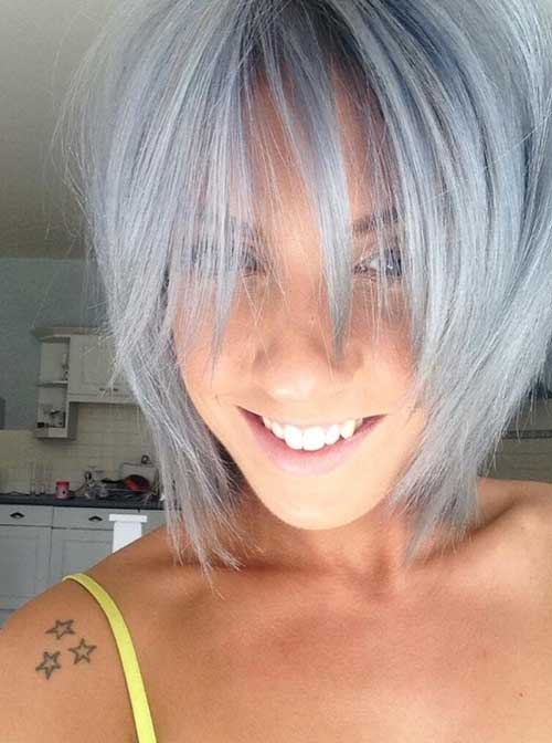 Short Gray Bob Hair