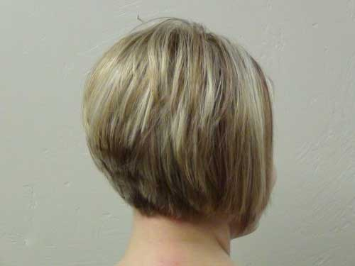 Short Blonde Hair Stacked Cut