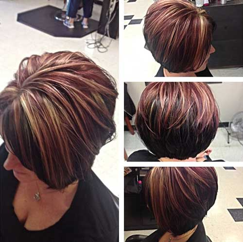 Short Highlighted Hair Women Over 40