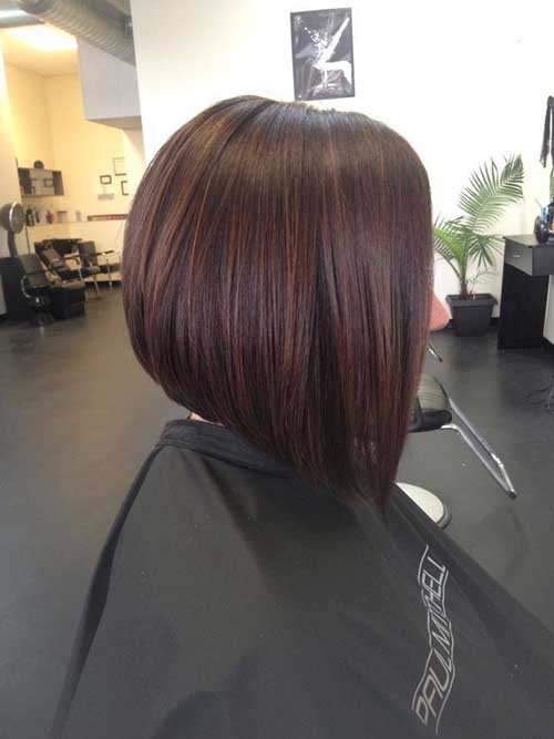 Short Hairstyles Dark Bob Hair