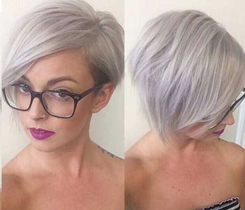 Short Hairstyles For Gray Hair Pixie