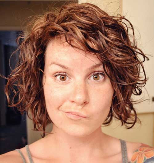 Short Layered Curly Bob Haircuts