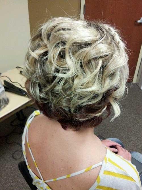 Classy Short Layered Curly Hair Idea