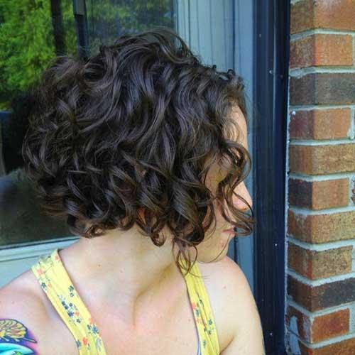 Short Layered Dark Curly Hair