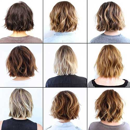 Short Layered Haircuts Back View 2017