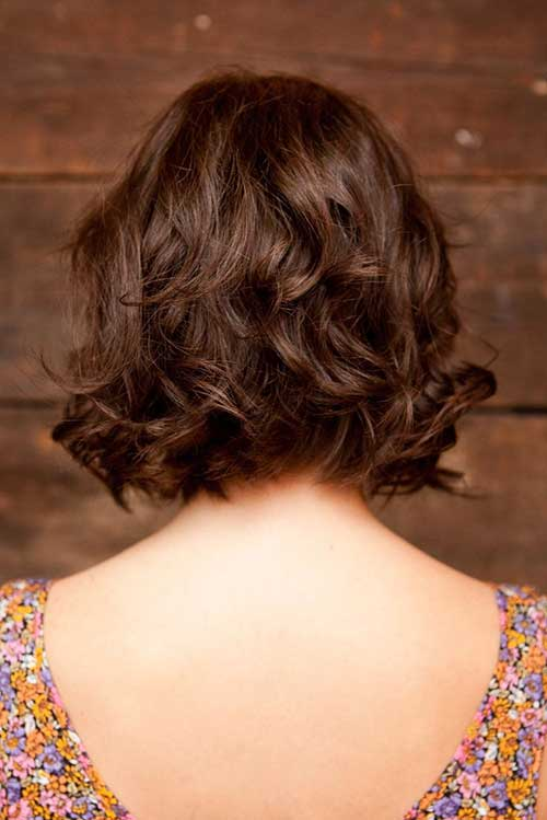 Short Layered Haircuts for Curly Hair Back Look