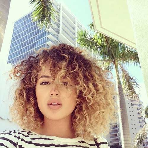Short Naturally Curly Blonde Hair