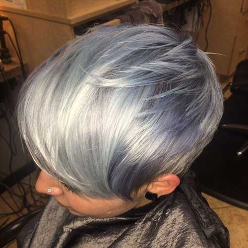 Short Pixie Gray Haircuts Ideas