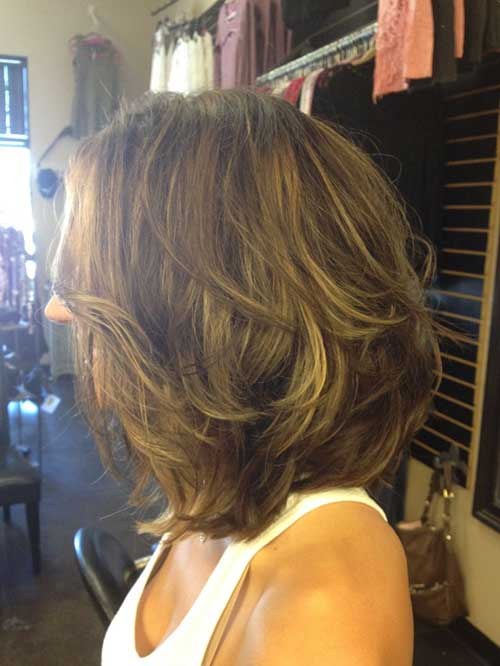 Bob layered haircut 2016