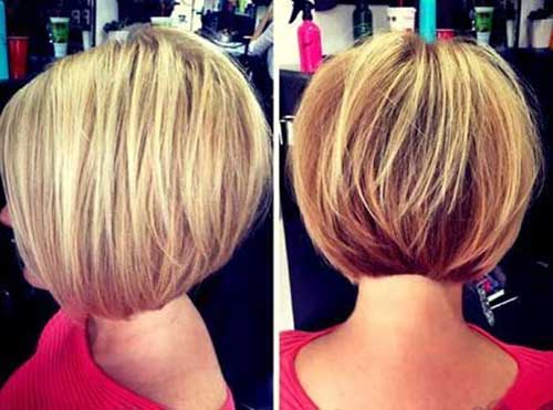Short Bob Stacked Hair