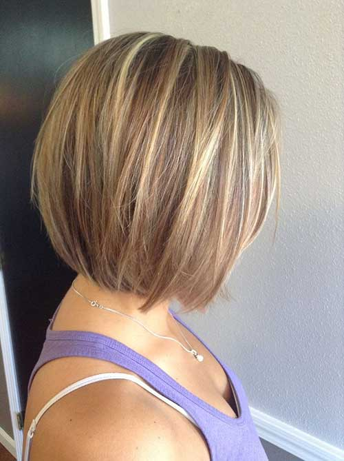 Short Stacked Straight Haircuts