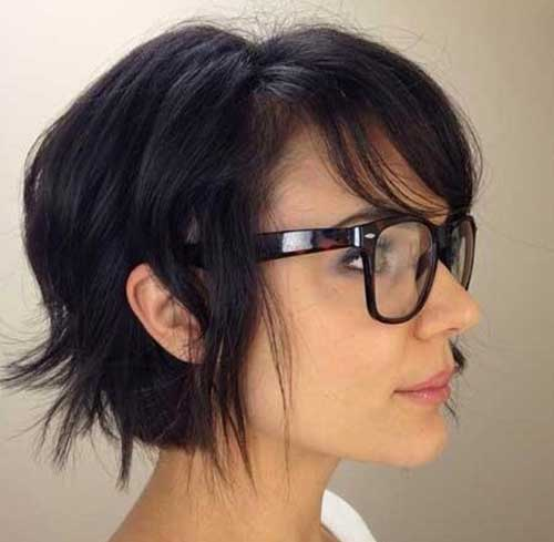 Short Thick Bob Hairstyles with Dark Color