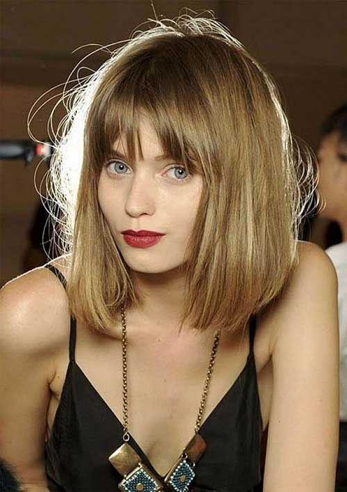 Short to Mid Length Haircuts with Bangs
