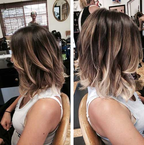Short to Mid Length Highlighted Haircuts