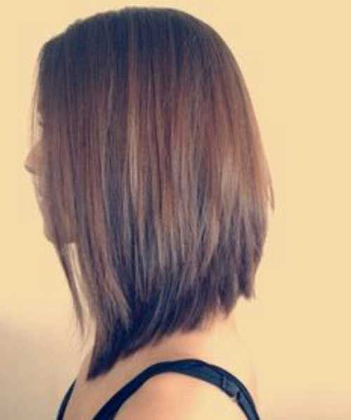 Short to Mid Length Inverted Haircuts