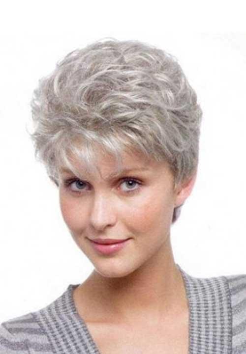 Spiky Pixie Gray Haircuts