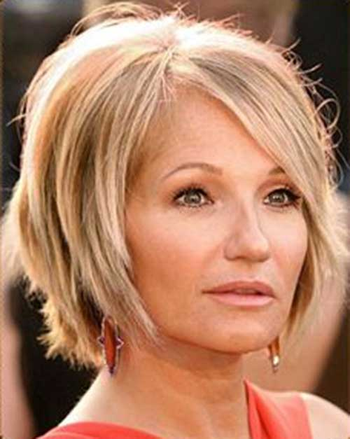 Straight Bob Hairstyles for The Older