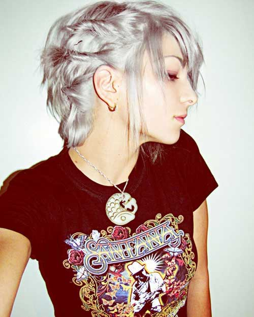 Trendy Pixie Gray Haircuts for Girls