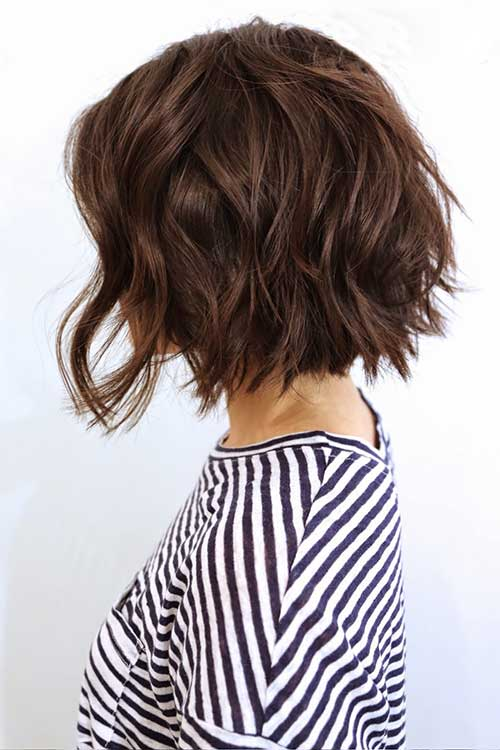 Wavy Haircuts for Short Hair Style