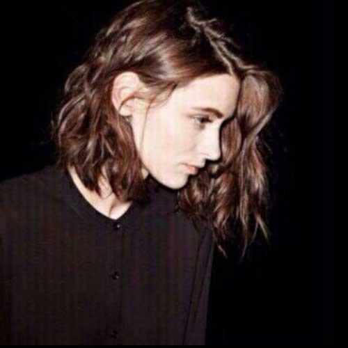 Wavy Long Asymmetrical Bob Hairstyles for Women