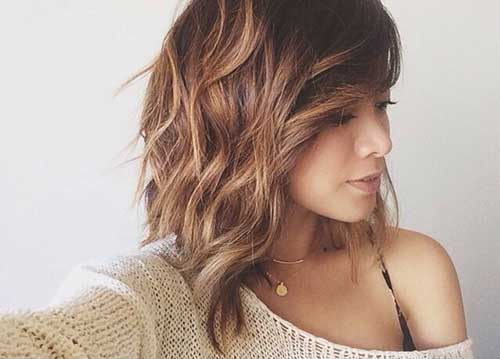 Cool Wavy Long Bob Hairstyles