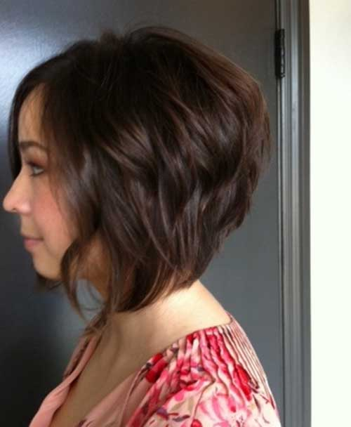 Wavy Stacked Bob Haircuts