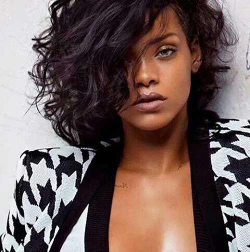 Rihanna Short Curly Hair-11