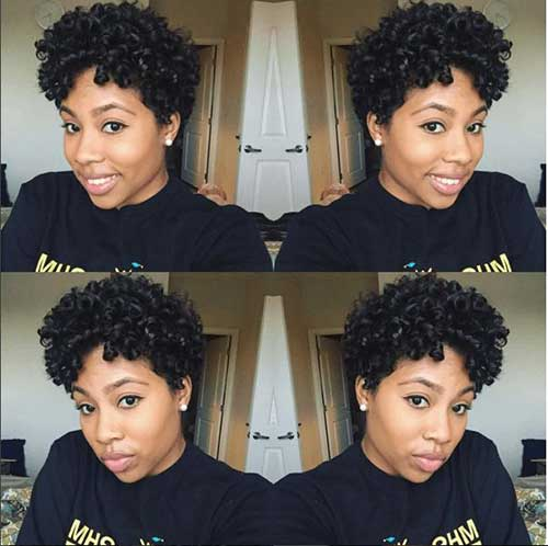 Short Natural Haircuts for Black Women-11