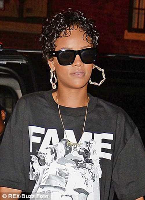 Rihanna Short Curly Hair-12