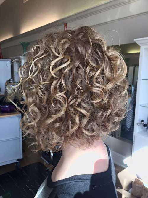 stylish short haircuts  curly wavy hair short