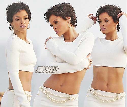 Rihanna Short Curly Hair-15
