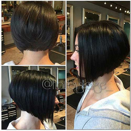 Bob haircut long on one side