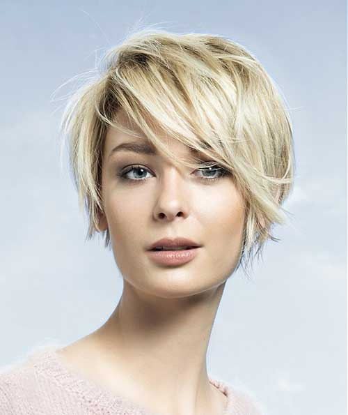 Short Haircuts for Women with Round Faces-7