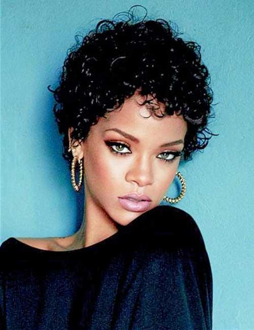 Rihanna Short Curly Hair-8