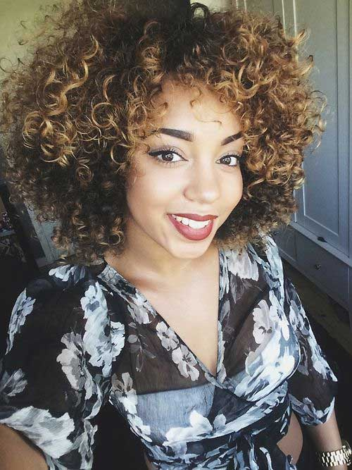Cute Curly Short Weave