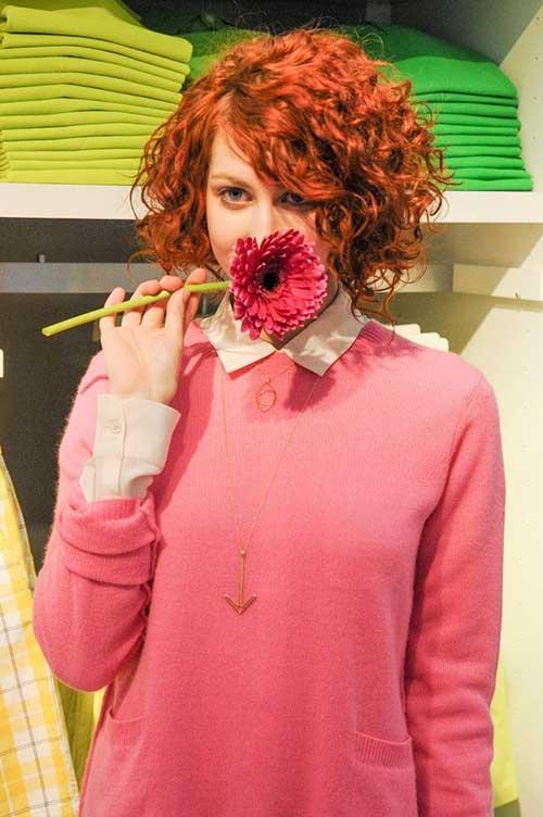 Cute Red Curly Bob Ideas