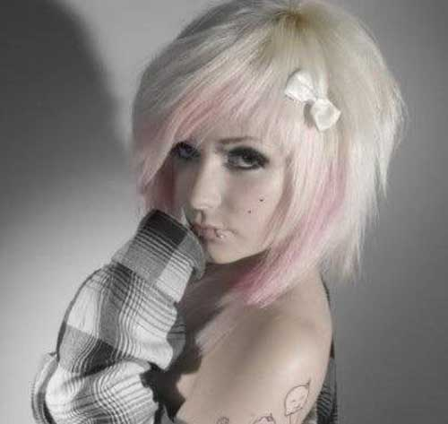 Cute Short Emo Blonde Hair Style Ideas