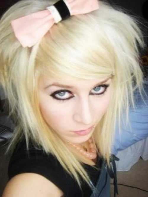 Cute Short Emo Blonde Hair Cuts