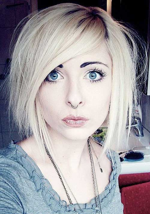 Cute Short Emo Side Swept Hairstyles