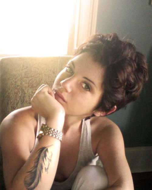 Female Short Curly Pixie Haircuts