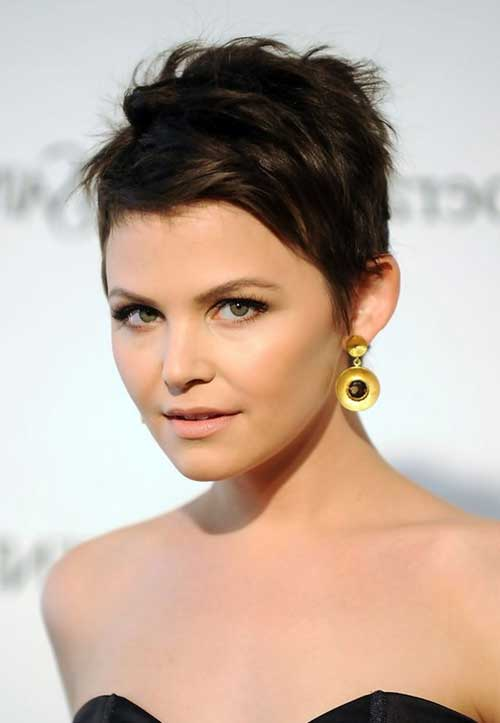 Ginnifer Goodwin Dark Pixie Hair