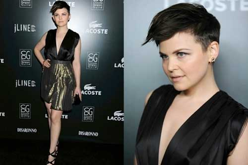 Ginnifer Goodwin Shaved Side Pixie Cuts
